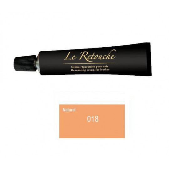 Retoucing cream for smooth leather - Package 25 ml - Color natural
