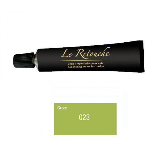 Retoucing cream for smooth leather - Package 25 ml - Color green