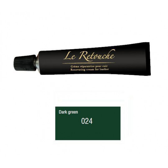 Retoucing cream for smooth leather - Package 25 ml - Color dark green