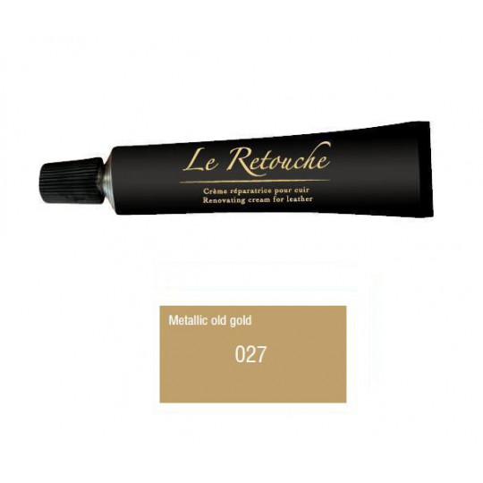 Retoucing cream for smooth leather - Package 25 ml - Color old metalizzed gold