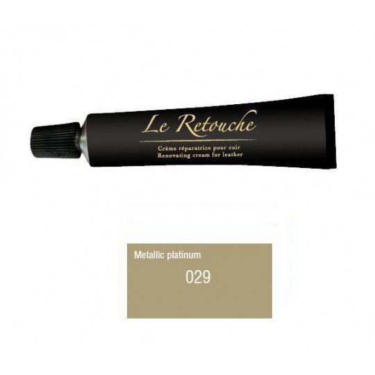 Retoucing cream for smooth leather - Package 25 ml - Color platinum