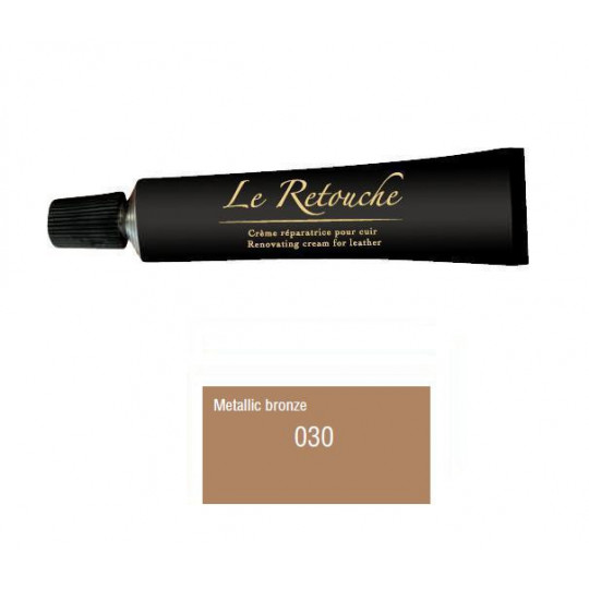 Retoucing cream for smooth leather - Package 25 ml - Color Bronze