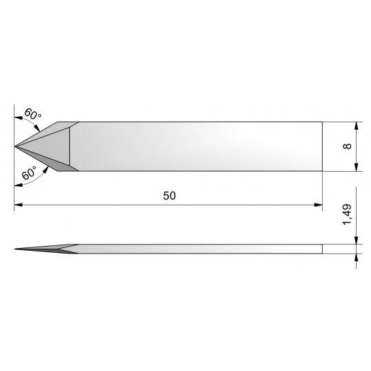 Blade CE11 - Max. cutting depth 6.9 mm