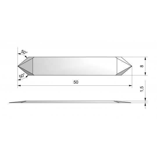 Blade CE12-A - Specific for vynil - Max. cutting depth 4.8 mm