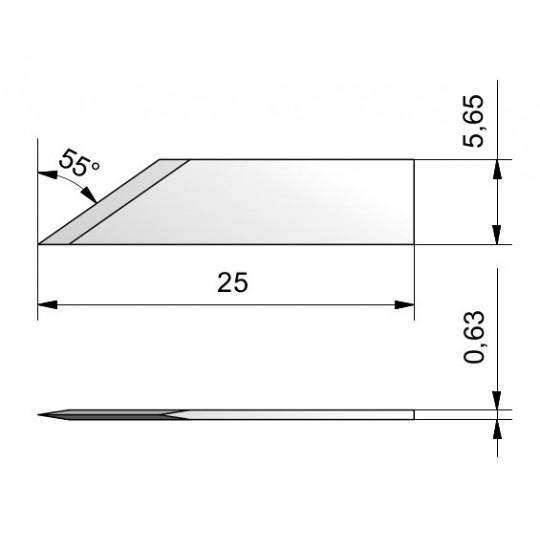 Blade CE16 - Max. cutting depth 7.4 mm