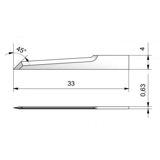 Blade CE23 - Max. cutting depth 22 mm