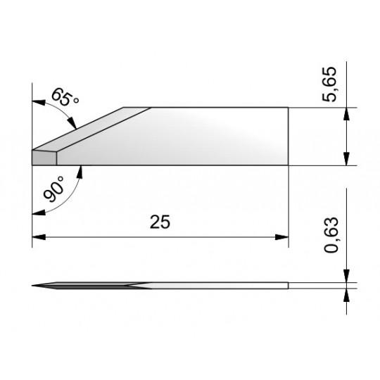 Blade CE25 - Max. cutting depth 8.9 mm