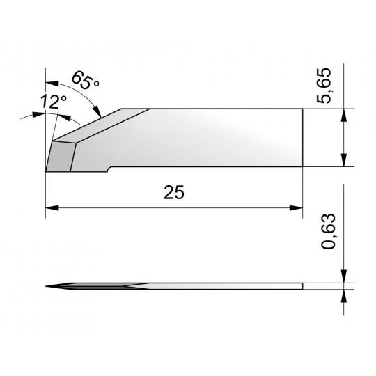 Blade CE26W - Max. cutting depth 8.7 mm