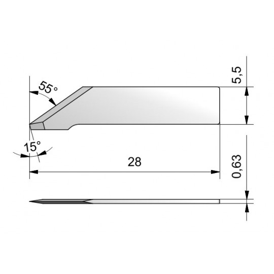 Blade CE42 - Max cutting depth 7.8 mm