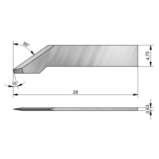 Blade CE43 - Max. cutting depth 7.8 mm
