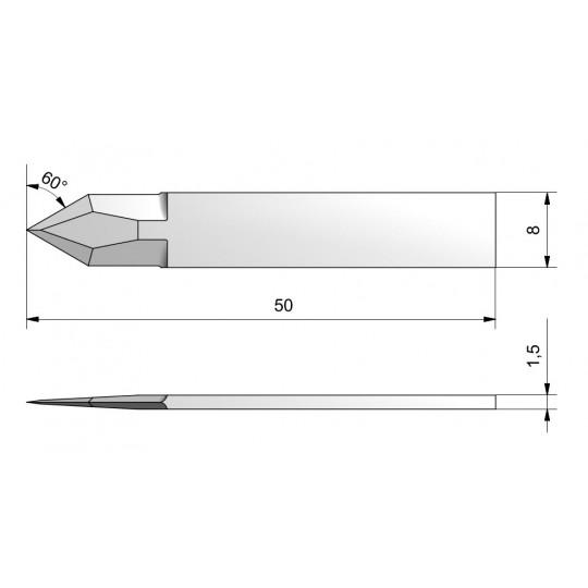 Blade CE44 - Max. cutting depth 14 mm