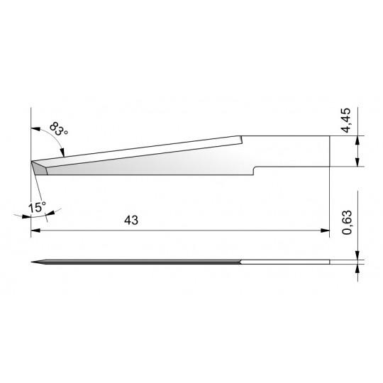Blade CE63 - Max. cutting depth 28 mm