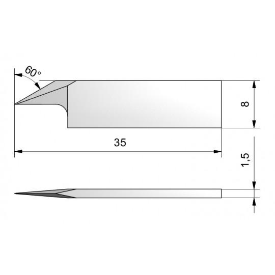 Blade CE111 - Max. cutting depth 6.9 mm
