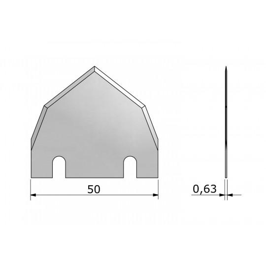 Blade CE572 - Max. cutting depth 16 mm