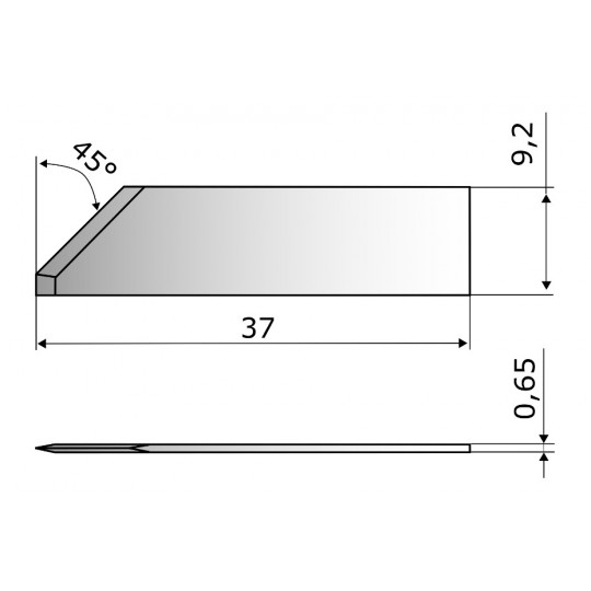 Blade CE1017 - Max. cutting depth 18 mm