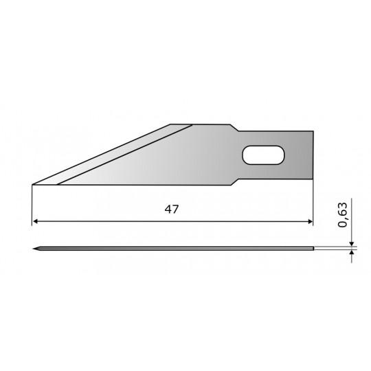 Blade CE301 HSS - Blade lenght 47 mm