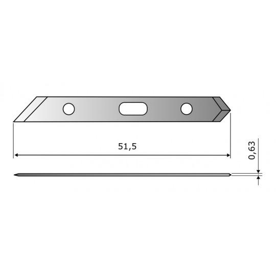 Blade CE302 HSS - Blade lenght 51.5 mm