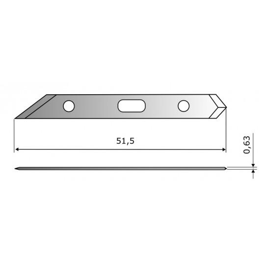 Blade CE306 HSS - Blade lenght 51.5 mm