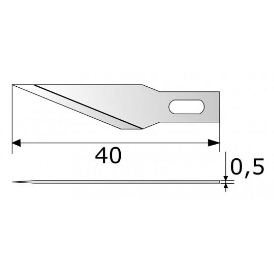 Blade CE308 HSS - Blade lenght 40 mm