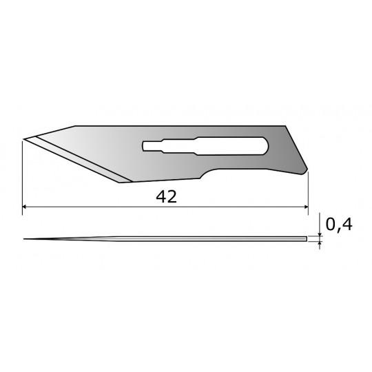 Blade CE309 HSS - Blade lenght 42 mm