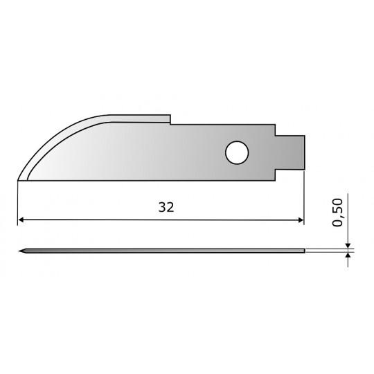 Blade CE7713 HSS - Blade lenght 32 mm
