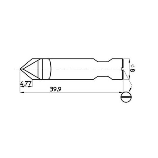 Blade with incision for screwdriver 43587 - Max. cutting depth 4.77 mm