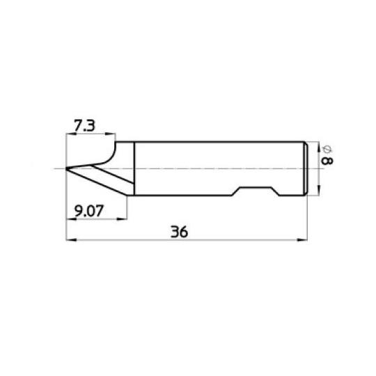 Blade 45794 - Max. cutting depth 9.07 mm