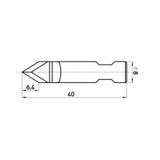 Blade BLD-DR8261A G42462002 - 46810 - Max. cutting depth 6.4 mm