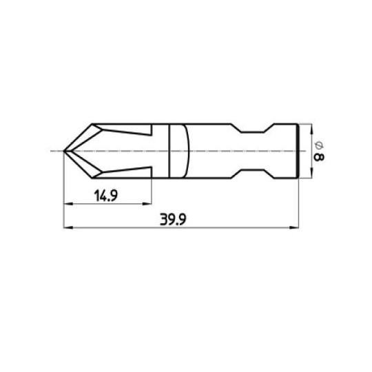 Blade 47179 - Max. cutting depth 14.9 mm