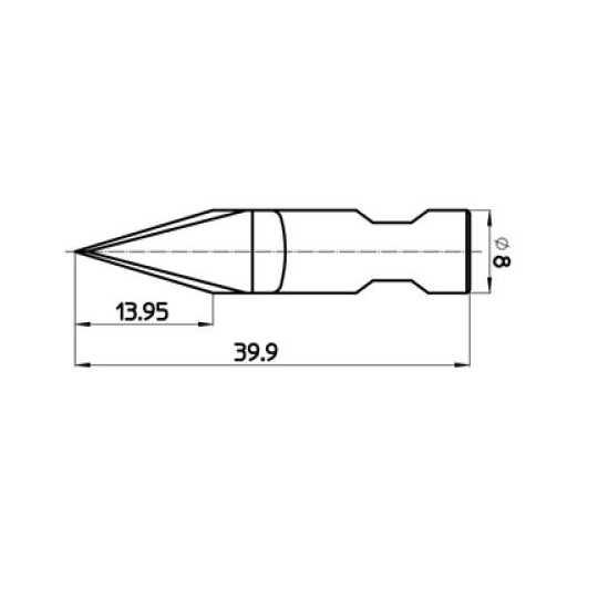 Blade 47180 - Max. cutting depth 13.95 mm