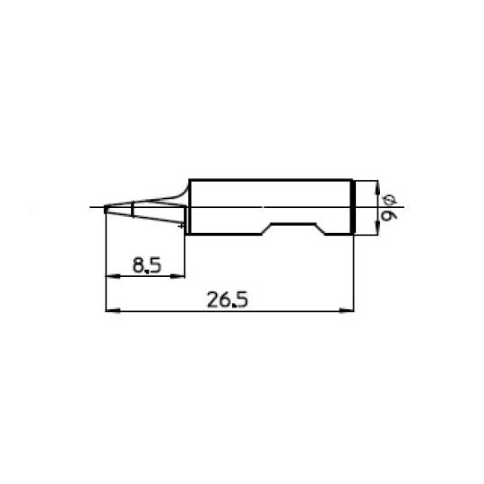 Blade 47390 - Max. cutting depth 8.5 mm