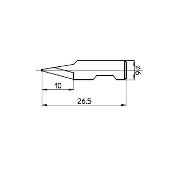 Blade 47535 - Max. cutting depth 10 mm