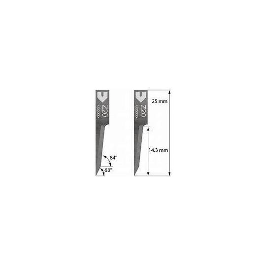 Blade Zund compatible - 3910313 - Z20 - Max. cutting depth 14.3 mm