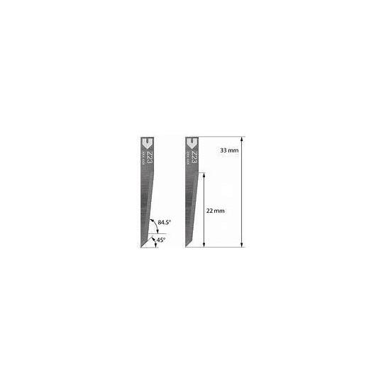 Blade Zund compatible Z23 - MAx. cutting depth 22 mm