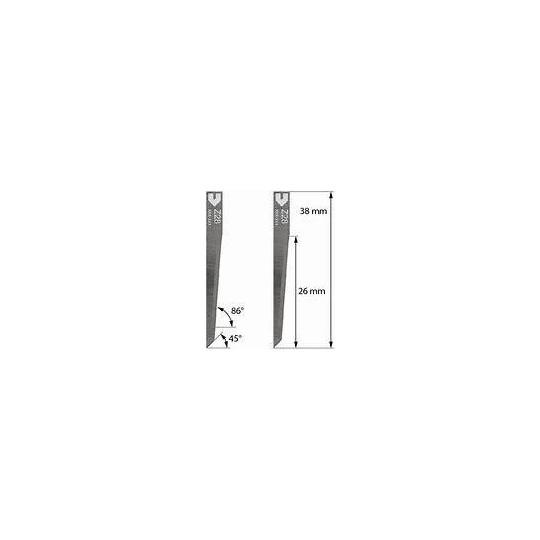 Blade Zund compatible - Z28 - Max. cutting depth 26 mm