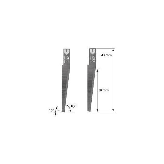 Blade Zund compatible - Z63 - Max. cutting depth 28 mm