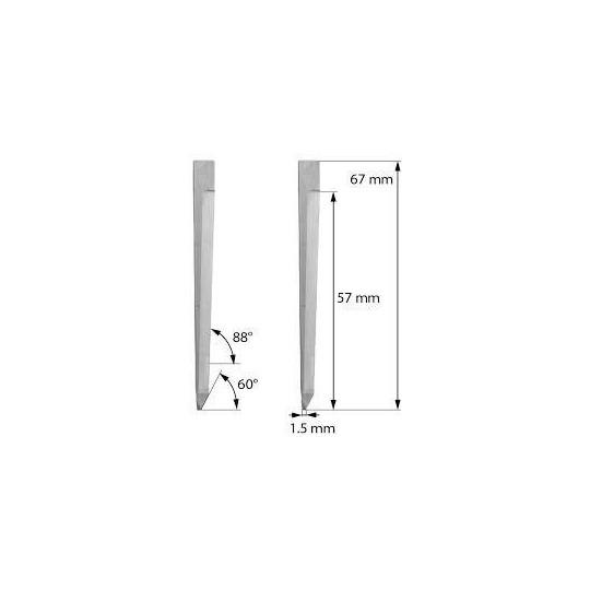 Blade Zund compatible - Z64 - Max. cutting depth 57 mm