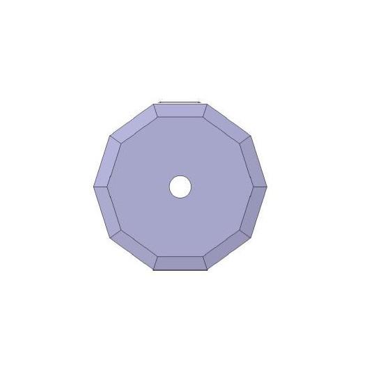 Blade 01046359 Atom compatible - Ø 39.5 mm - Ø inside hole 10 mm - Max. cutting depth 3 mm