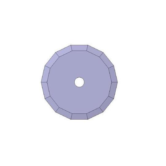 Blade 01046360 Atom compatible - Ø 39.5 mm - Ø inside hole 14 mm - Max. cutting depth 3 mm