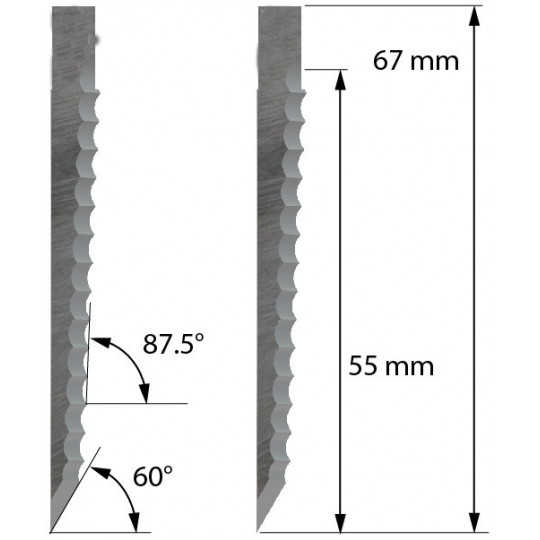 Blade Zund compatible - Z66 - Max. cutting depth 55 mm