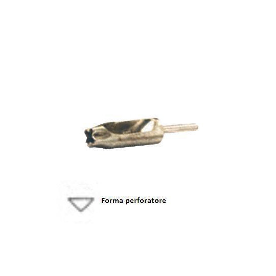 Hollow cutter to needle shaped-isosceles triangle - Box from 10 pieces - Dim 4 mm