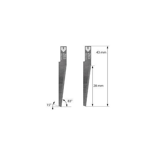 Blade Z63 - Max. cutting depth 28 mm