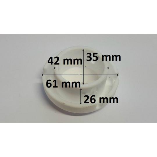 Mushroom blade track on Teflon - For K1 machine - For standard vibrating group