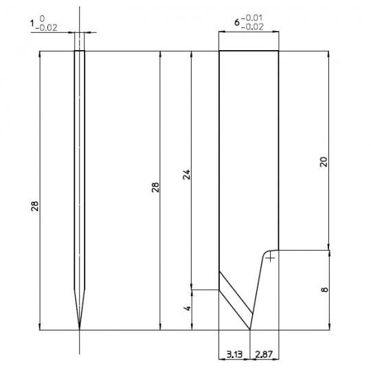Blade 46654 - Max. cutting depth 4.0 mm