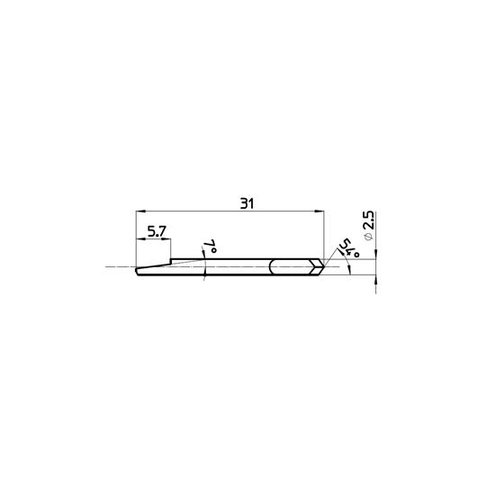 Blade 47103 - Cutting angle 54 °