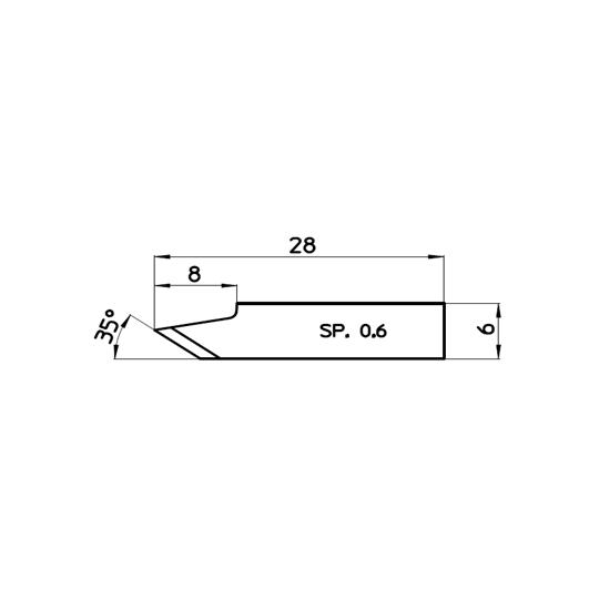 Blade 47568 - Max. cutting depth 5 mm