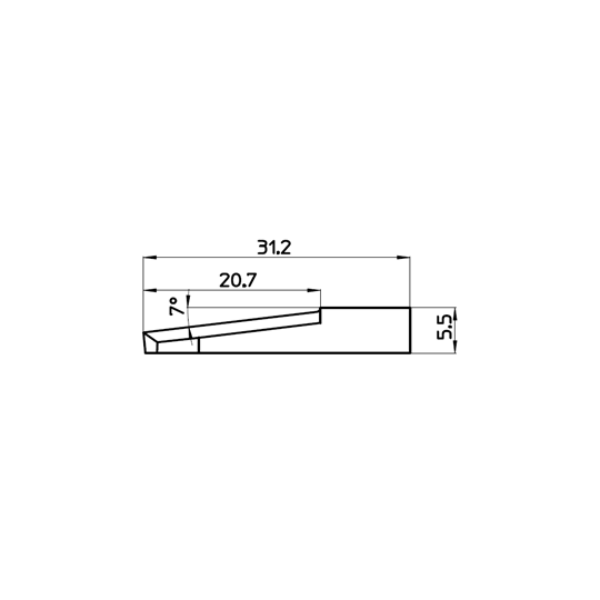 Blade 47572 - Max. cutting depth 21 mm