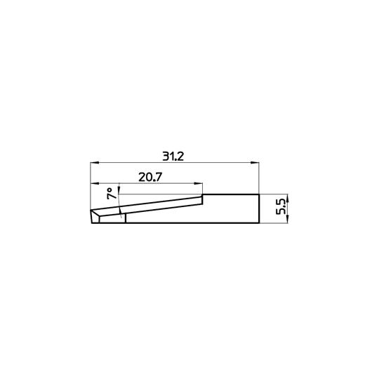 Blade 44160 - Max. cutting depth 10 mm