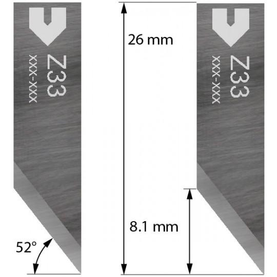 Blade compatible with Zund - 3910333 - Z33