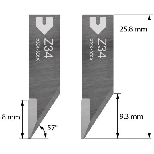 Blade compatible with Zund - 3910334 - Z34